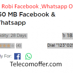 Robi 350 MB 18 TK | Facebook & Whatsapp