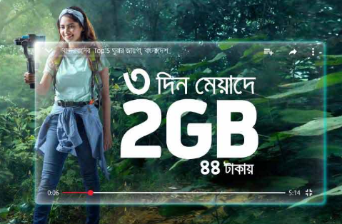 GP 2GB Internet 44TK for 3 Days Offer 2019